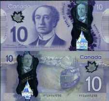 CANADA 10 DOLLARS 2013 P 107 POLYMER Macklem-Carney UNC