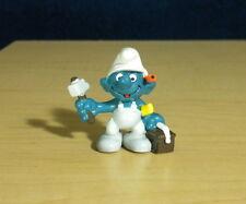 Smurfs Handy Smurf Hammer Toolbox Vintage Construction Figure Toy Figurine 20171