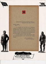 ORIGINAL UNITED CONFEDERATE VETERANS 1916 GENERAL ORDERS UCV HEADQUARTERS ALA