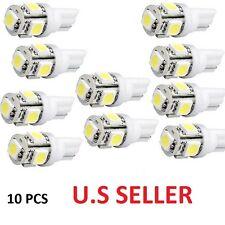 10 Pcs Xenon White T10 5-SMD 5050 LED Light bulbs W5W 2825 158 192 168 194 Wedge