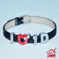 One Direction I Love 1D Bracelet / Wristband with Free Gift Bag Choose In