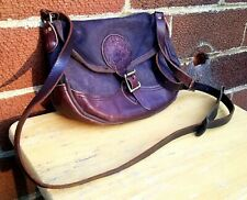 Vintage Duluth Pack Mini Haversack Purse Crossbody Black Great Lakes Leather USA