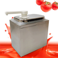 1l Sauce Pump Dispenser Squeeze Condiment Dispensing Stainless Steel Single Head