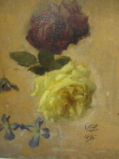 1895 sign. : Julius EDUARD BRAUNSDORF:  Malvorlage ROSEN  MEISSEN