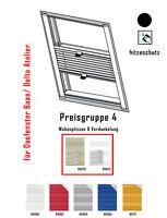 Plissee Verdunkelung für Braas Atelier Dachfenster nach Maß