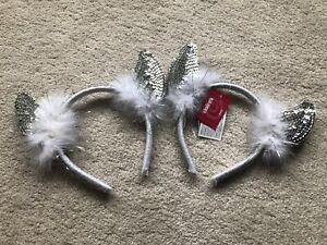 2x Girls Sequin  Horn Headband (1 NWT, 1 Worn Once)