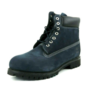 Timberland Premium 6 In Waterproof Lace Up Mens Boots Blue Black 11064 M SZ 13