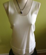 Max Mara Authentic White Tank Top, size M, MSRP $450.00