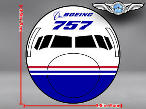 BOEING 757 B757 FRONT VIEW DECAL / STICKER