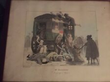 Auguste-Xavier Leprince lithographs. These 3 prints are part of a set of12