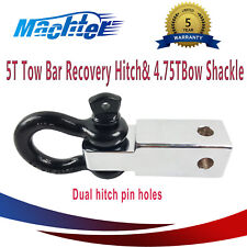 5T Tow Bar Hitch Recovery Receiver with 4.75T Bow Shackle 4WD Off Road Towing