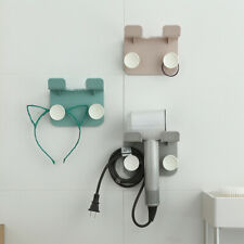 Wall Mount Hair Dryer Holder Punch Free Adhesive Rack Storage Organizer for Home