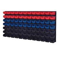 92 teiliges SET Lagersichtboxenwand Stapelboxen mit Montagewand Werkzeugwand