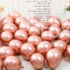 50 Rose Gold Metallic Balloons Chrome Shiny Latex 12