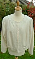 Monsoon ivory & gold  lined cropped jacket size 20                          B32