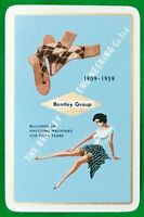 Playing Cards Single Card Old BENTLEY GROUP KNITTING Stockings Advertising Girl