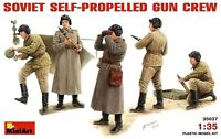Miniart 1:35 Soviet Self-Propelled Gun Crew WWII Figures Model Kit
