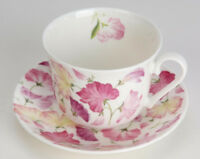 Roy Kirkham Jumbotasse Sweet Pea Wicken pink inkl. Untertasse große Tasse