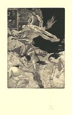 Ex Libris Bookplate Exlibris Etching by Ivan Rusachek - Belarus