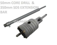 Professional 50mm Core drill Bit & 350mm SDS Extension Bar Power Tool