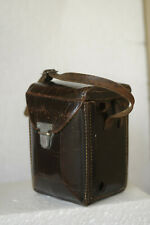 ROLLEICORD BROWN LEATHER CASE AND STRAP EXTENSION.