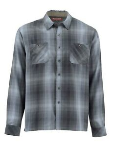 Simms Black's Ford LS Flannel Shirt - Dark Moon Plaid - New with Tags - Size L