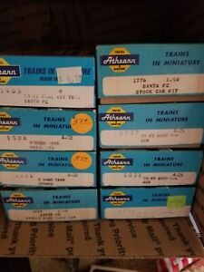 Athearn HO Train Lot of 8 Kits, see descriptions for details, ATSF, SSW, KCS,etc