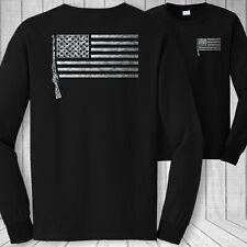 Mosin nagant rifle American flag long sleeve shirt, USA m91/30 firearm tee shirt