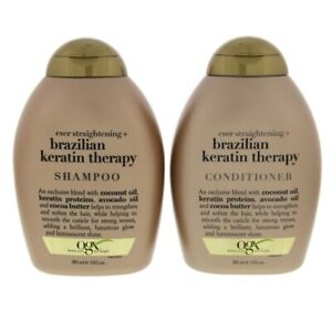 OGX Ever Straightening Brazilian Keratin Smooth Shampoo & Conditioner 385ml x2