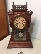 Rare Antique Terry Clock Company Eastlake Parlor Clock Pittsfield MA
