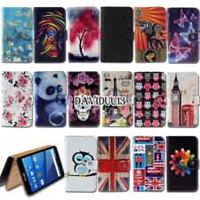 For Various BLU SmartPhones - Leather Wallet Card Stand Flip Case Cover + Strap
