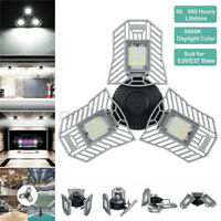 60W LED Garage  Shop Utility Ceiling 8000LM Deformable 7000K  Night