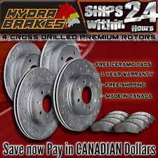 FITS 2007 2008 2009 SUZUKI SX4 Drilled Brake Rotors CERAMIC
