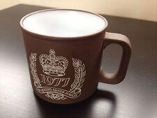 Rare 1977 Hornsea Pottery Queen Elizabeth II Silver Jubilee Vitramic Mug Cup