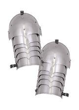 Steel shoulder plates, 16G, pair, Medieval Plate Armour LARP Reenactment