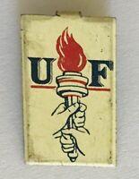 UF United Fund United Way Pinback Advertising Pin Badge Rare Vintage (A10)