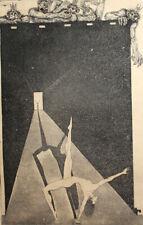 1984 Surrealist nude dancer print signed