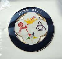 ZPs3 Masonic Masons LARGE badge Freemason Shriner York Rite