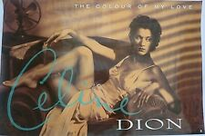 RARE CELINE DION COLOUR OF MY LOVE 1996 VINTAGE ORIG MUSIC STORE PROMO POSTER