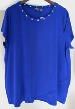 ac039b4f5 Chico's Travelers Classic Studded Neck Top Plus Size 4 20 22 2xl 3xl