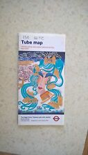 London Underground Tube Map - 2002 - The Magic River Thames Lady with Jewels.