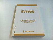 Suzuki sv 650 (s) (by1111/by1321) Mode d'emploi/conducteur manuel (2003)