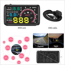 "5.5"" Car OBD2 HUD Head-Up Display Fuel Consumption Engine Speed Warning System"