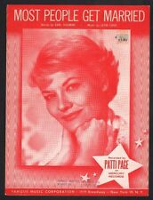Most People Get Married 1962 Patti Page Sheet Music