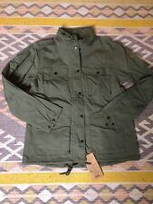 Fjall Raven Jacket Womens Military Green Hooded  Size L  New