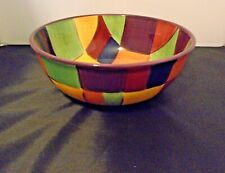 Tabletops Gallery Caracas Handpainted Round Serving Bowl