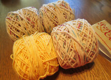 PEACHES N CREAM  100% COTTON YARN ~ Potpourri  OMBRE AND YELLOW