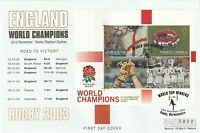 22 NOV 2003 RUGBY ENGLAND WINNERS MERCURY FIRST DAY COVER RUGBY SHS