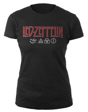 Led Zeppelin 'Logo & Symbols' Womens Fitted T-Shirt - NEW & OFFICIAL!