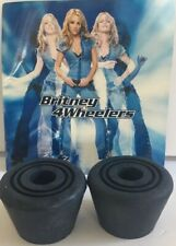 New Old Stock Brittney 4 Wheelers Rubber Stops Replacement Blue Navy Quad Skates